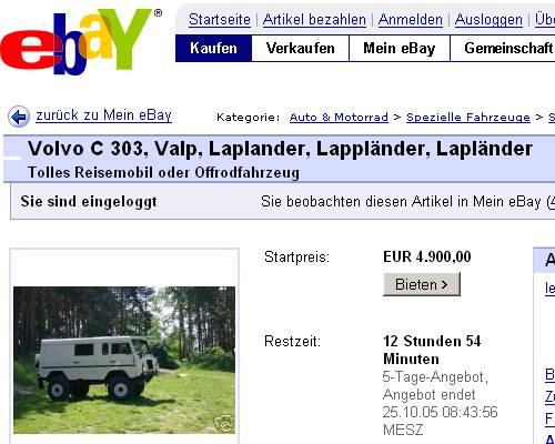 Volvo c303 for sale ebay